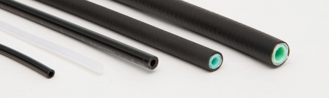 Feed line hoses and nylon tubings for centralized lubrication systems